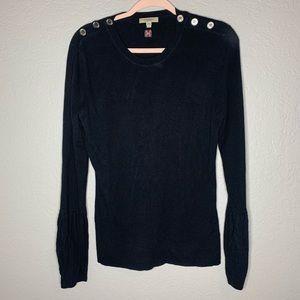 Burberry Black Silk Cashmere Sweater Size Large